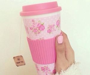 pink, girly, and tea image