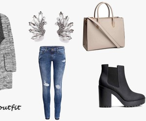 autumn, bag, and coat image