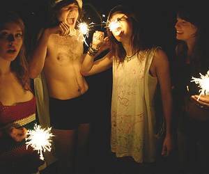 friends, fireworks, and boy image