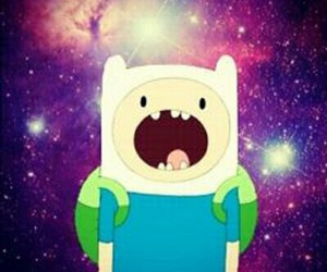 galaxy, adventure time, and finn image