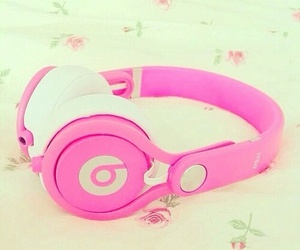 pink, beats, and music image
