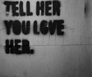love, her, and tell image