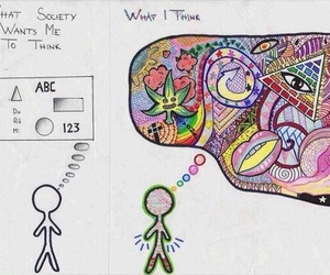 society, mind, and colorful image
