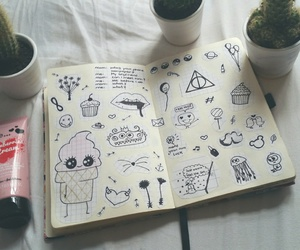 drawing and notebook image
