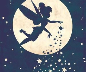 disney, tinkerbell, and moon image
