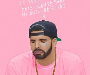 Drake, pink, and hotline bling image