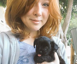 actress, dog, and famous image