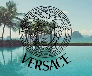Versace, water, and blue image