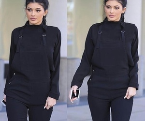 kylie jenner, kylie, and black image
