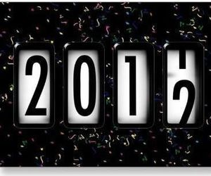 2012, new year, and 2011 image