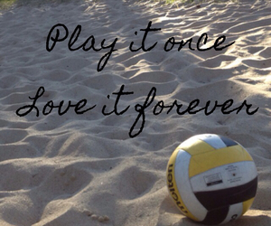 forever, play, and volleyball image