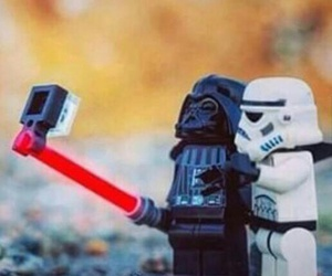 selfie, star wars, and lego image