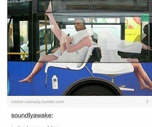 bus, funny, and man image