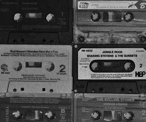 black and white, music, and vintage image