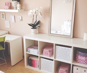 room, pink, and decor image