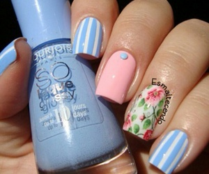 flowers, girls, and nail art image