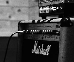 black & white, black and white, and music image