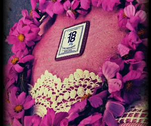 lovely, flowers, and pink image