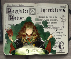 harry potter, art, and potion image