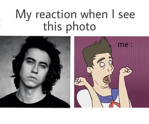 funny, my reaction, and nash grier image