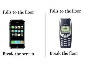 iphone, nokia, and funny image