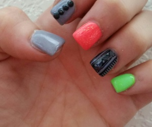 tribal nails and dianeypoo23 image