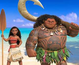 disney, moana, and maui image
