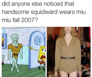fashion, squidward, and funny image