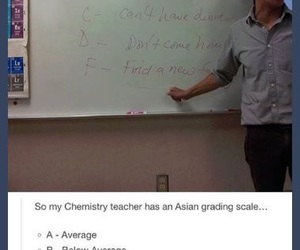 funny, teacher, and asian grading scale image
