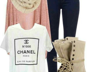 outfit, chanel, and boots image