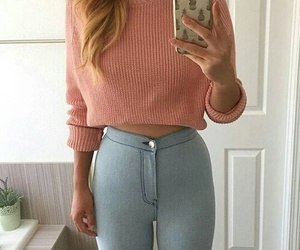 case, girl, and jeans image
