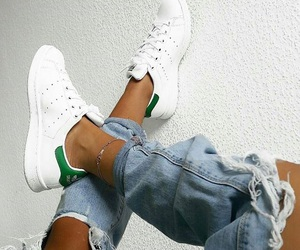 perfection, stan smith, and ripped jeans image