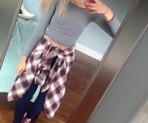 closet, clothes, and flannel image