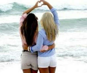 friends, bff, and beach image