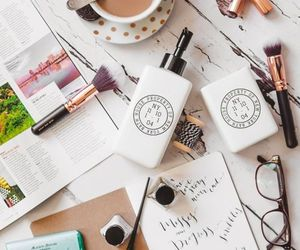 coffee, beauty, and makeup image