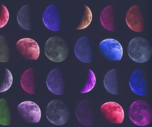 colors and moon image