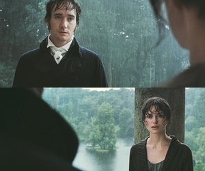 pride and prejudice, keira knightley, and rain image
