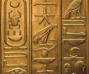 gold and hieroglyphic image