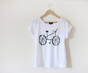 bike, style, and t-shirt image