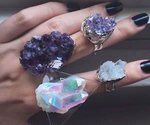 rings, crystal, and ring image