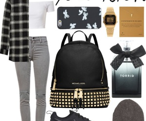 backpack, fashion, and beanie image