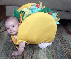 baby, cute, and tacos image