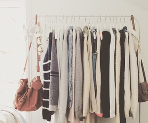 bags, closet, and clothes image