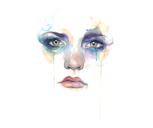 girl, paint, and watercolor image