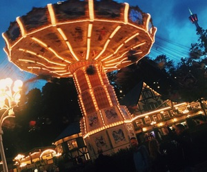 beautiful, summertime, and carrousel image
