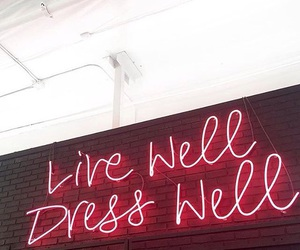 neon, quote, and style image