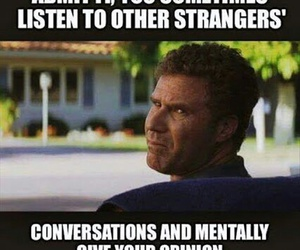 conversation, strangers, and funny image
