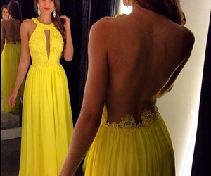 dress, style, and yellow image