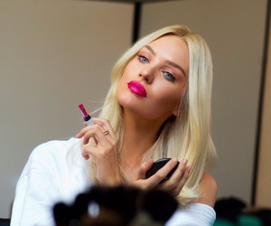 candice swanepoel, lipstick, and beauty image