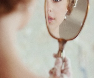 mirror, photography, and beauty image